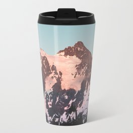 Pink Cascade Mountain Travel Mug