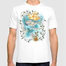 Underwater tales - the boat MEDIUM Mens Fitted Tee White