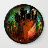 urban Wall Clocks featuring Urban by Shereen Yap