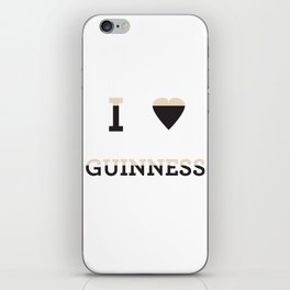 I heart Guinness iPhone Skin
