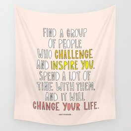 Amy Poehler commencement speech quote Wall Tapestry