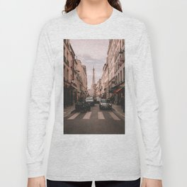Vintage Paris, France (Color) Long Sleeve T-shirt