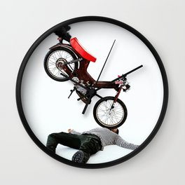 Motorbike Boy v2 Wall Clock