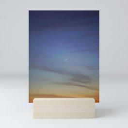 sliver in the sky Mini Art Print