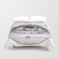dave grohl Duvet Covers featuring dave by SuperPills