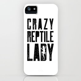 Crazy lady reptile lizard gift silhouette iPhone Case