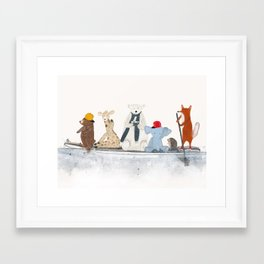 little big surfboard Framed Art Print