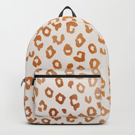 Copper Leopard Print Backpack