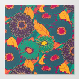 Fantasy Zinnias no.3 Canvas Print