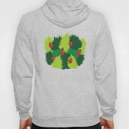 Green Leaves And Ladybugs In Spring Hoody