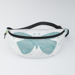 Decorative White Overlay Turquoise Marble Buttefly Fanny Pack