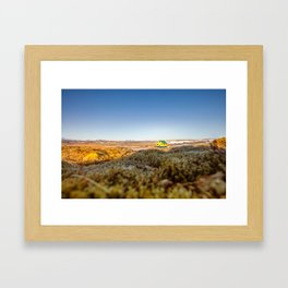 Iceland middle of nowhere Framed Art Print