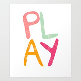 Play Nursery art Art Print