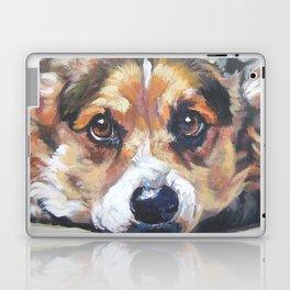 Pembroke Welsh Corgi dog art portrait from an original painting by L.A.Shepard Laptop & iPad Skin
