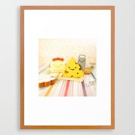 Cheesy Breakfast Framed Art Print