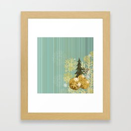 Christmas decoration background Framed Art Print