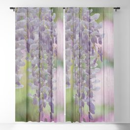 Rustic Wisteria Blackout Curtain
