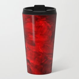 Red Abstract Paint Metal Travel Mug