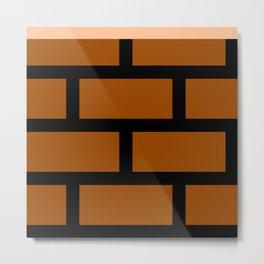 8-Bits & Pieces - Bricks Metal Print