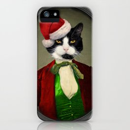 Puccini goes to a Christmas Party iPhone Case