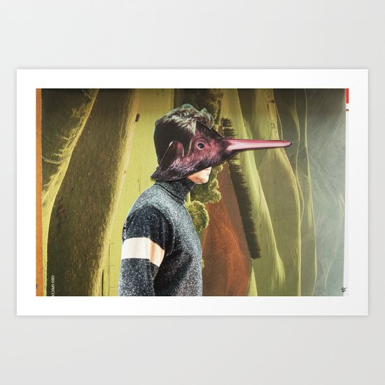 The Kiwi Bird Man Art Print