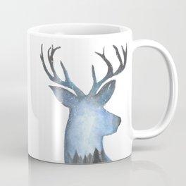 Deer in the Arctic Stary Night Coffee Mug