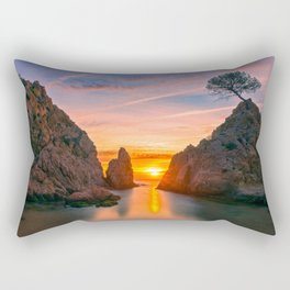Sunrise in Tossa Rectangular Pillow