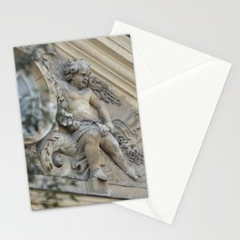 Baroque angel on Parisian mansion facade Stationery Cards