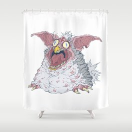 Creepy Furby Shower Curtain