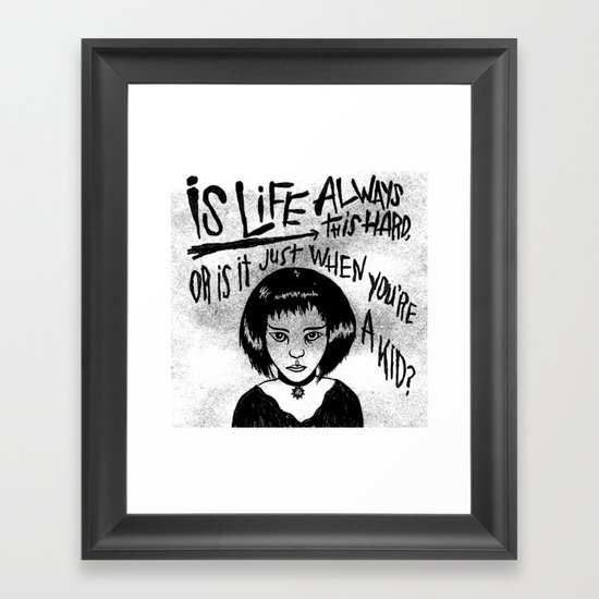THE PROFESSIONAL Framed Art Print