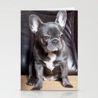 french bulldog Stationery Cards featuring French Bulldog by Falko Follert Art-FF77