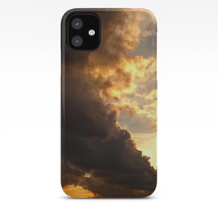 Clouds in a scratched darkness iPhone 11 case
