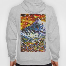 Colorful Mountain Village Hoody