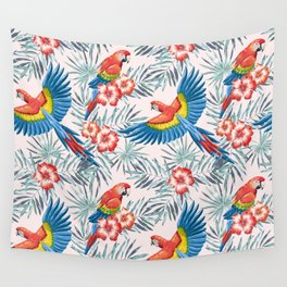 Macaw parrots in the jungle Wall Tapestry