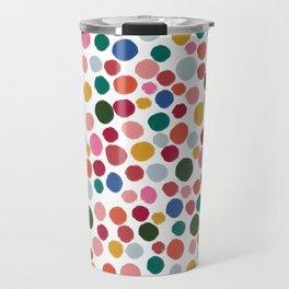 confetti rainbow dots Travel Mug