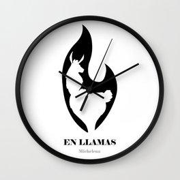 En LLamas Wall Clock