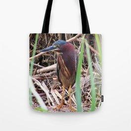 Too Cool Bird ( Green Herron) Tote Bag