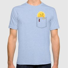 Pocketful of sunshine Mens Fitted Tee MEDIUM Tri-Blue