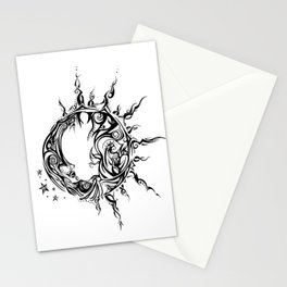 Tribal Sun and Moon Stationery Cards