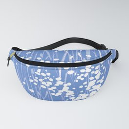 stemmy weeds nautical blue Fanny Pack