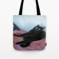 relax Tote Bags featuring Relax by Layton Zimmages