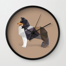 Collie Dog. Wall Clock