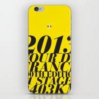 tour de france iPhone & iPod Skins featuring 2013 Tour de France: Maillot Jaune by Dushan Milic