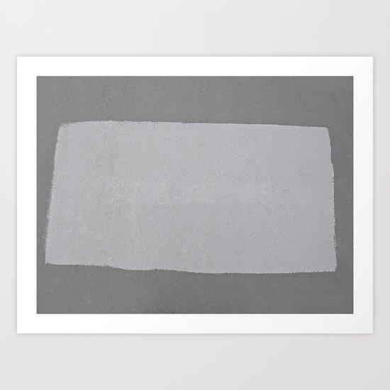 Grey on Grey  Art Print