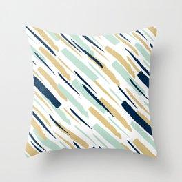 Diagonal strokes Throw Pillow