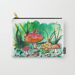 Toadstool Mushroom Fairy Land Carry-All Pouch