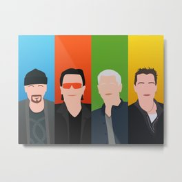 Bono, the Edge, Adam Clayton, Larry Mullen Jr Metal Print