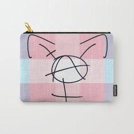 Tranarchy Plaid Carry-All Pouch