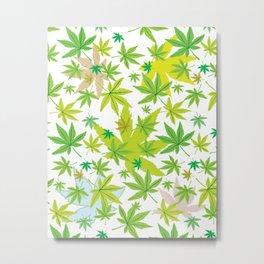 The World of Cannabis Metal Print