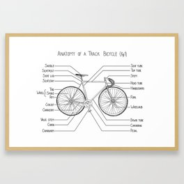 Anatomy of a Track Bicycle (fig 1) Framed Art Print